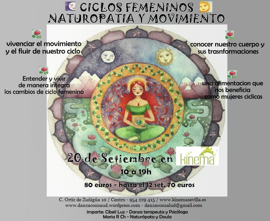 CICLOS FEMENINOS , NATUROPATIA Y MOVIMIENTO / 20 SEPT. KINEMA ...